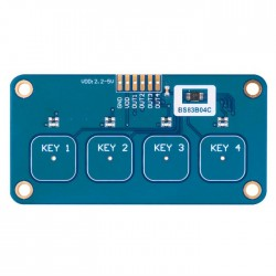 4-Key Capacitive Touch Sensor